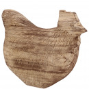 groothandel Woondecoratie: Houten kip Blair, L30cm, W12cm, H25cm, naturel